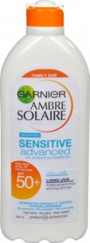 Mléko na opalování OF 50 Sensitive Advanced Ambre Solaire Garnier