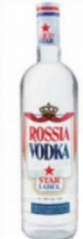 Vodka Rossia Star Label Konings